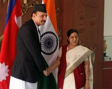Dr Mahat interacts with Indian leaders