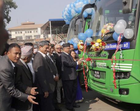 30 more Sajha buses start plying Kathmandu roads