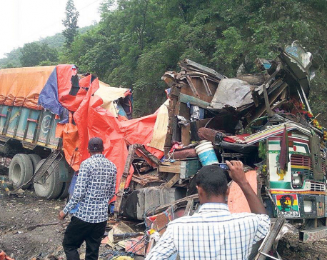 Landslide crushes four vehicles