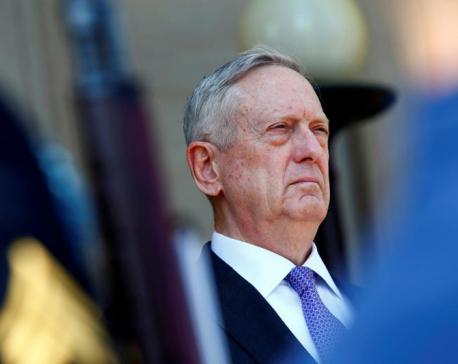U.S. Defense Secretary Mattis to talk Islamic State, Syria in Middle East