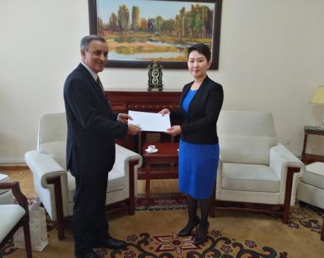 Ambassador Paudyal meets Mongolian ministers