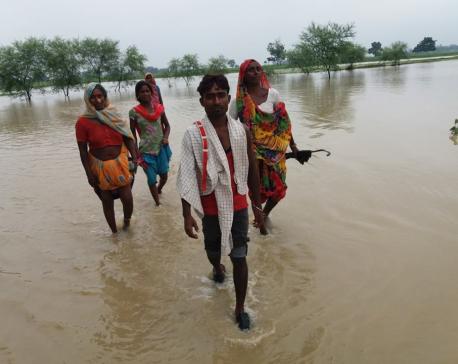 Indian embankment causing inundation in Banke