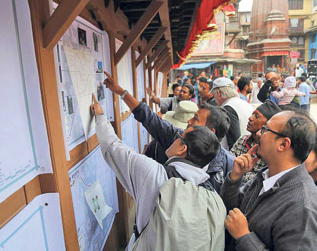 Exhibit and dialogue on Kasthmandap a crowd puller