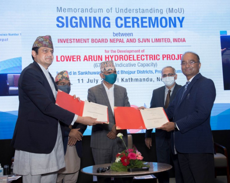 IBN inks an MoU with SJVN Limited, India to construct 679 MW Lower Arun Hydroelectric Project