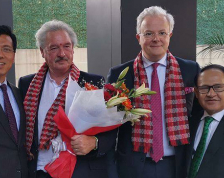 Luxembourg Foreign Minister Asselborn arrives in Kathmandu