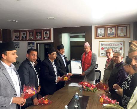 MAN delegation meets finance minister Yuba Raj Khatiwada