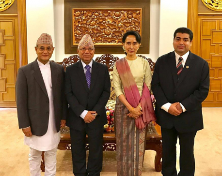 Nepal's peace process exemplary: Democratic Leader Syuu Ki