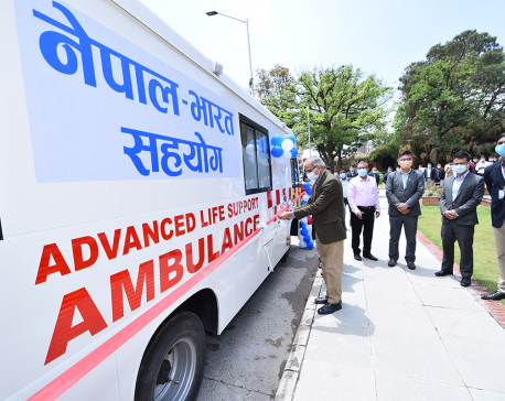 India gifts 39 ambulances and six school buses to govt and not-for profit organizations in various districts