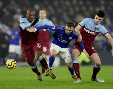 Leicester cement third spot with 4-1 win over West Ham