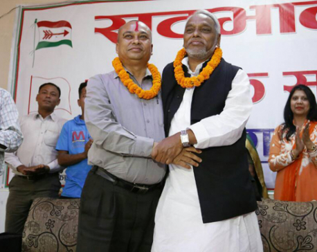 Mahato, Lekhi declare party unification