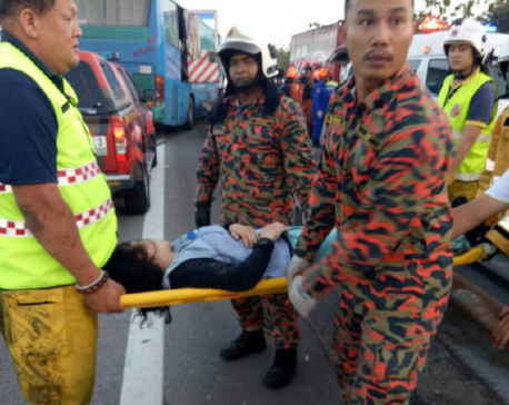 3 Nepalis injured in bus mishap in Malaysia