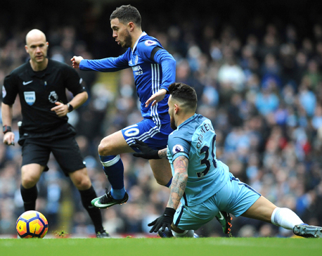 Man City loses cool and match as Chelsea wins 3-1 in EPL