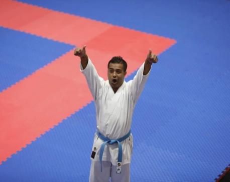 Manday Kaji Shrestha wins first gold for Nepal