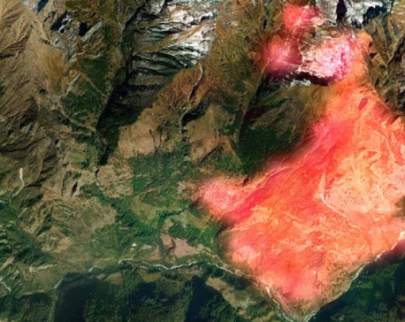 Fire destroys around 800 hectares of forest in Manang in past five days