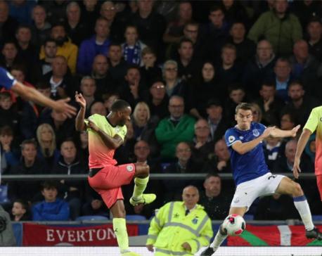 Jesus, Mahrez, Sterling score as Man City overcome Everton