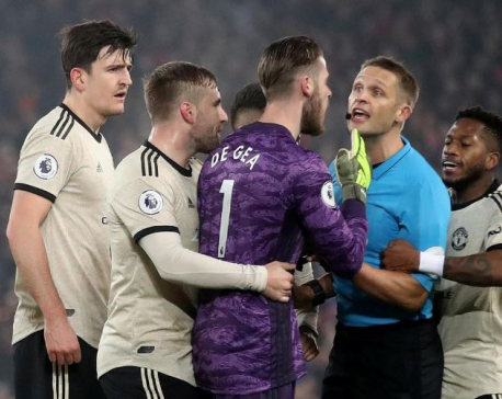 Manchester United fined for failing to control players