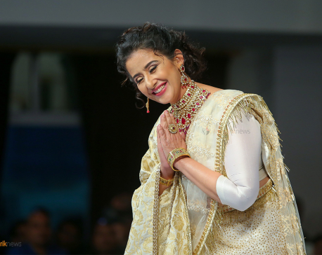 Actress Koirala walks on Nepali ramp