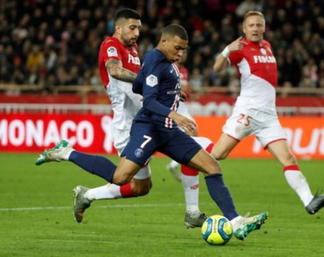 PSG crush Monaco 4-1 to extend Ligue 1 lead