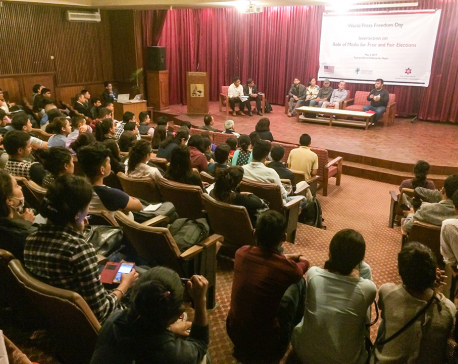 Interaction on media role for free and fair polls