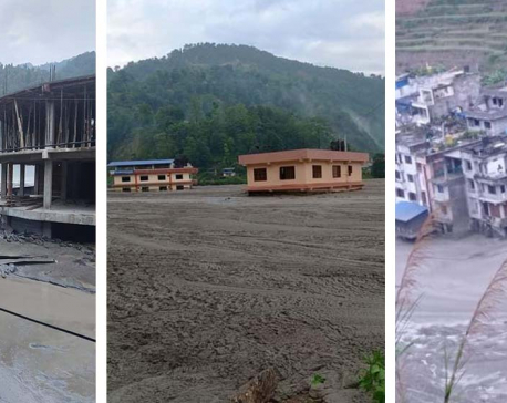 Heavy rains-triggered landslide, river erosion result in massive losses in Melamchi: Report