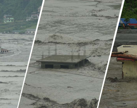 UPDATE: Melamchi flood sweeps away 17 more houses