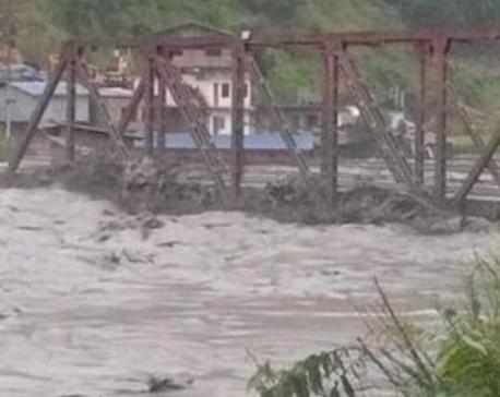 Melamchi flood sweeps away 46 houses and two bridges