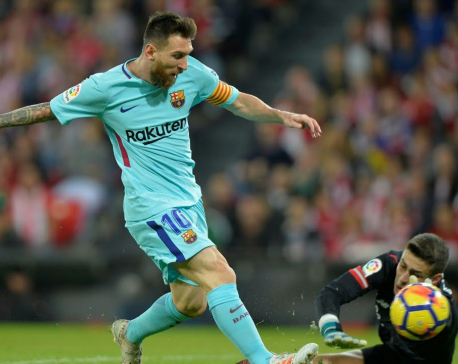 Barcelona's Messi looking to score 30 goals against Sevilla