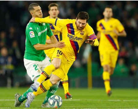 Messi leads thrilling Barca at Betis