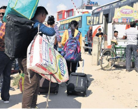 Migrant workers delighted upon returning home for Dashain