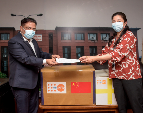 PPE, reproductive health kits handed over to Nepal government