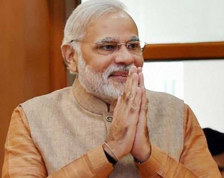 Indian PM Modi leaves for Muktinath