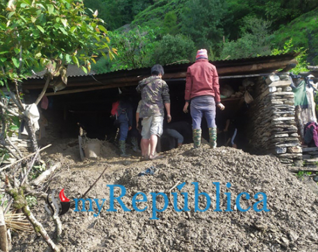 Myagdi landslide kills two
