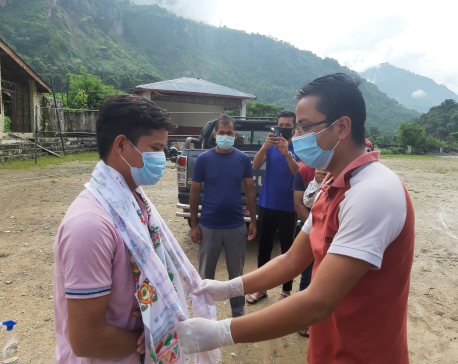 Myagdi youth released from isolation ward amid fanfare after he tests negative for COVID19