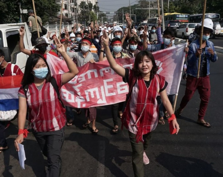 Myanmar generals shut down internet as thousands protest coup