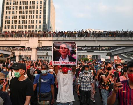 Tens of thousands protest Myanmar coup despite internet ban