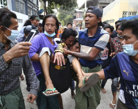 2 Myanmar protesters killed by police fire, several injured