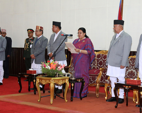 National Assembly chair takes oath of office