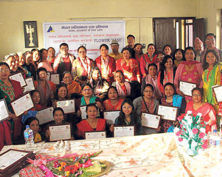 Handicraft training concludes