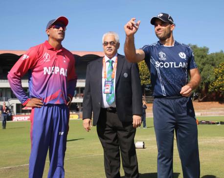 Nepal sets target of 150 runs for Scotland