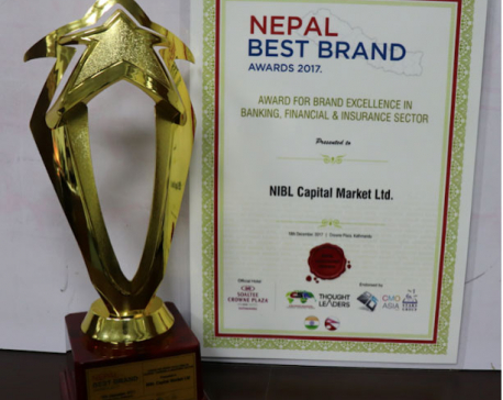 NIBL Capital Markets Limited bags Nepal Best Brand Awards, 2017