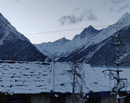 Chhangru and Tinkar areas in Darchula witness heavy snowfall (with photos)