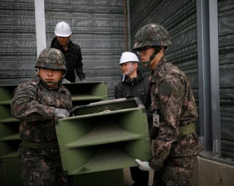 2 Koreas dismantle propaganda loudspeakers at tense border