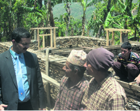 NRA CEO visits quake reconstruction in Dolakha