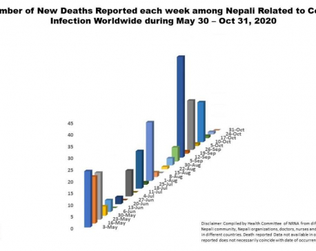 963 Nepalis abroad contracted COVID-19 last week; death toll hits 284