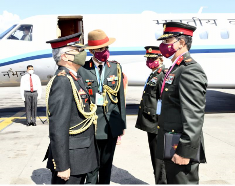 Visiting Indian Army Chief leaves for mountain flight to Solukhumbu