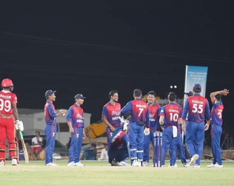 Nepali cricket team returns home from Oman tour