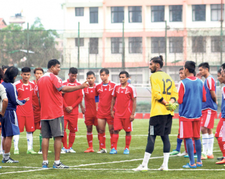 Bimal stars in Nepal-Bangladesh friendly match