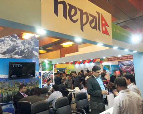Nepal stall attracts audience  at Dhaka Travel Mart 2018