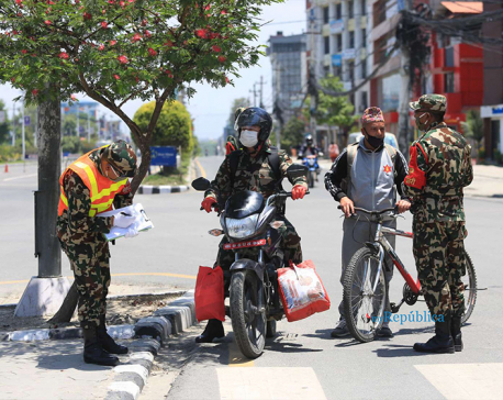 PHOTOS: Nepal Army ups vigilance against misuse of combat dress during lockdown