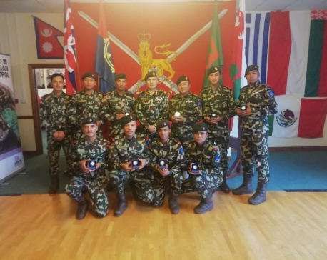 Nepal Army team bags gold medal in 'Exercise Cambrian Patrol 2019' held in UK (with photos)